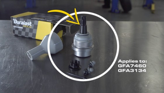 Poster image for video about GFA7460 OR GFA3134 Ball Joint Installation – Select Dodge Ram & Jeep Applications