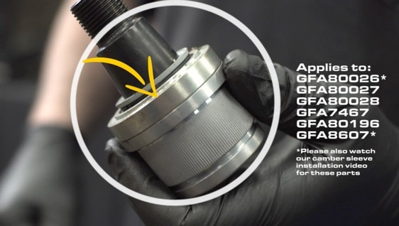 Poster image for video about HOW TO USE THE INSTALLATION PRESS RING WHEN INSTALLING THE BALL JOINT